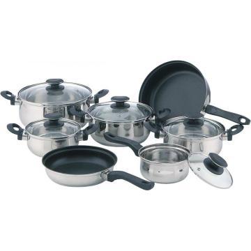Special bakelite handle 12pcs cookware set