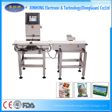 Electronic conveyor belt weighing system check weigher