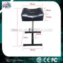 Steel stand leather stool professional tattoo arm rest, new furniture tattoo chair leg rest