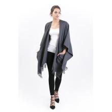 Casaco de Cashmere Wearu Perfectu-100% com Pockect