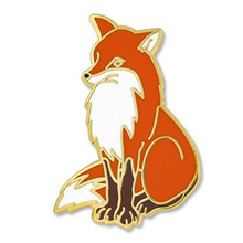 Vixen Arctic Red Fox Tier Emaille Anstecknadel