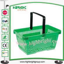 Einzelner Handgriff-tragbarer Plastikeinkaufskorb für Supermarkt