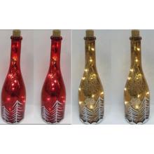 Decoração de Natal Artesanato de vidro claro com corda de cobre LED Light for Wall Art (17011)