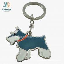 Llavero respetuoso del medio ambiente del perro del metal de la aleación del cinc del esmalte de los artes del metal de encargo