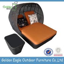 Sofa de jardin en osier de meubles de jardin en plein air