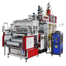 two layers stretch film machine for food packing