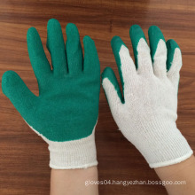10 gauge 2 thread polycotton gloves coated with foam latex palm