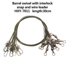 High Quality Barrel Swivel with Interlock Snap and Wire Leader