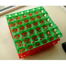 Vente chaude en plastique packaing caille oeuf boîte / oeuf carton