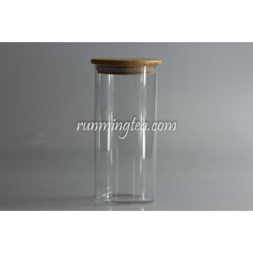 Tall Borosilicate Glass Canister With Lid