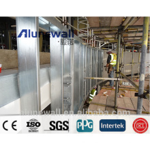 Alunewall A2 B1 grade Fireproof Aluminum Composite Panel for exterior wall panel/caldding wall