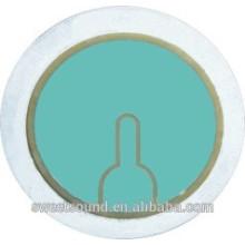 Venta al por mayor piezo cerámica elemento redondo 2,6 khz 35 mm piezo cerámica eléctrica