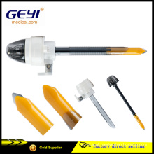 Geyi CE certificado descartáveis cirúrgico médico laparoscópico trocar com lâmina