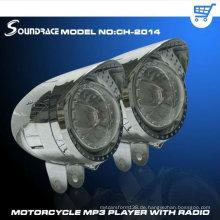 Motorrad-MP3-Player in verschiedenen Farben mit großer Raute