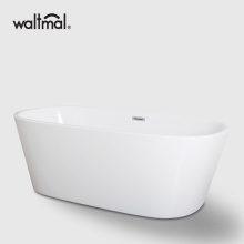 Double Ended Narrow Edge Bathtub in White