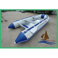 Barco inflável de 2,9 m para pesca e esportes com PVC