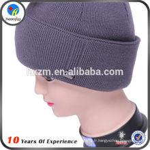 Logo personnalisé tricot hiver chapeau