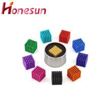 Venda quente Multicolor N35 5mm neodímio ímãs bolas