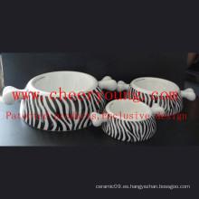 Alimentador para mascotas de porcelana