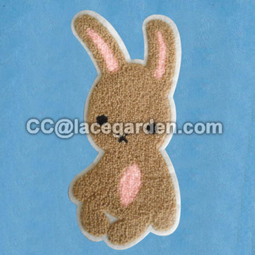 Cute Animal Design Chenille Chain Embroidery Patches