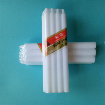 50G Lighting Pure Wax White Candles Decorazione