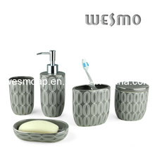 Porcelain Bathroom Set with Decal (WBC0657A)