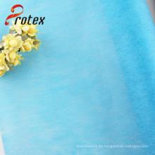 Tela no tejida del abrigo de la flor del color de Soild del poliester de la alta calidad 100%