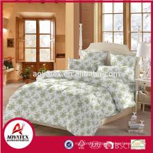 Atacado china fornecedor 120gsm microfibra luxo cama consolador conjuntos