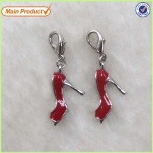 Wholesale Sexy Hot Red Lady Enamel High Heel Charm
