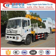 Dongfeng 8 Ton телескопический стреловой грузовик Crago Crane