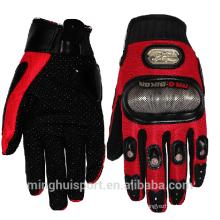 Gants de cuir de course de moto incassable de fibre de carbone de moto hors route de MH à vendre