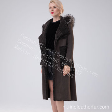 Women Hooded Australia Merino Shearling Fur