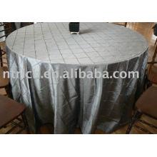 Pano de mesa normal pintuck, toalha de mesa de tafetá, capa de mesa de poliéster para casamento, banquete, hotel