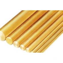 Barres en cuivre, barres cu, barre ronde avec filetage, barres rondes en cuivre avec surface moleuse droite