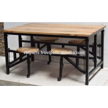 Industrial Canteen table Inbuilt Seating