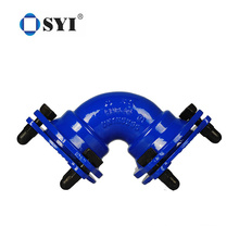 Ductile Iron Mechanical Joint Fittings Double Socket Bend Pipe Fittings
