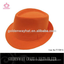Cheap Orange cotton fedora hat