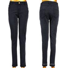 Buena Stretchy negro clásico tejida Jeans Mujer