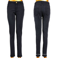 Good Stretchy Classic Black Woven Women Jeans