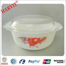 Hot Sale 1.0L Opal Glass Pot With Lid