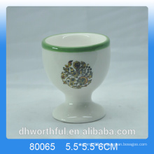 HIgh Quality Cheap Decal Ceramic Egg Cup