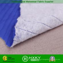 Tecido acolchoado de cor azul para vestuário