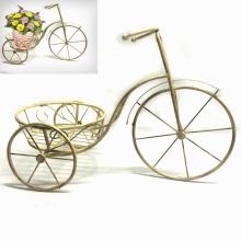 Décoration de maison et jardin en métal Tricycle Flowerpot Stand Craft