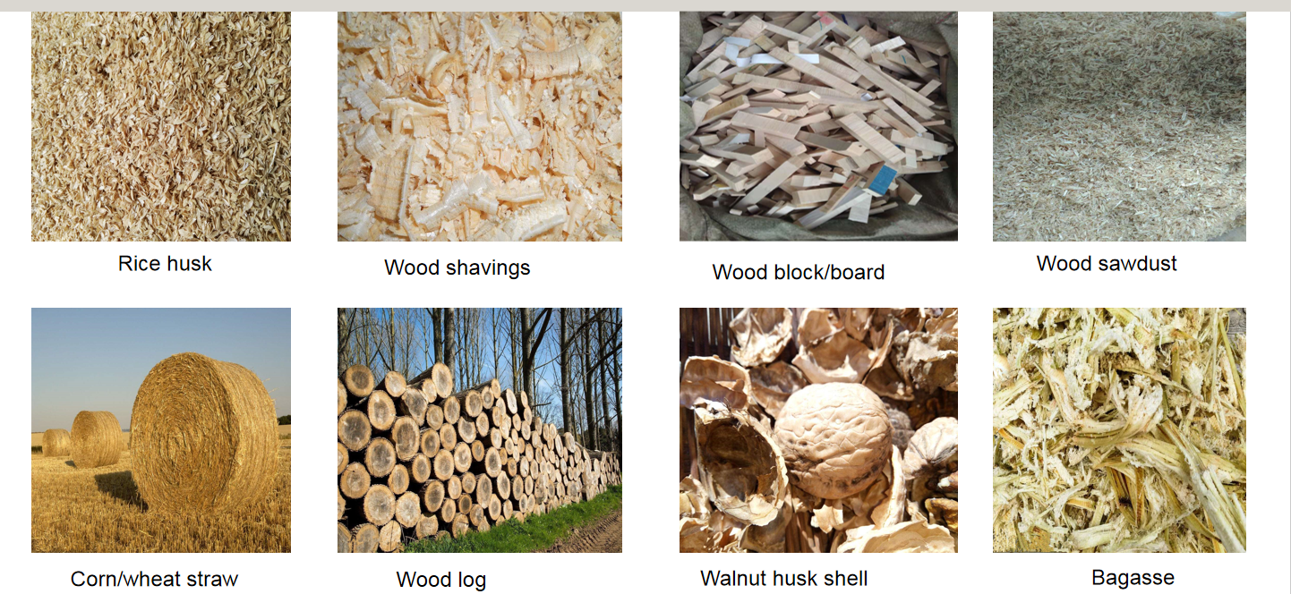 Raw material for wood pellet machine