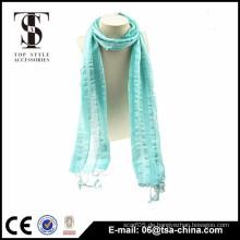 Schöne Frau Mode kleine Größe prasinous Schals mit Spitze