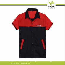 Red and Black Unisex Safety Working Uniform (F122)