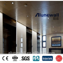 Alunewall A2/B1 class fireproof Wooden pattern Aluminium Composite Panel for inner decoration and door cover