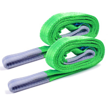 2 Ton 2M Or OEM Length 60MM Width Polyester Flat Woven 2T Webbing Lifting Sling Belt Green Color Safety Factor 8:1 7:1 6:1