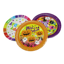 Christmas halloween kids cute pumpkin paper plate