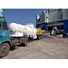 sulphuric acid tank semi-trailer export to Zambia